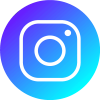 blue instagram PNG icon