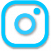instagram icon outline png blue