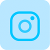 sky blue instagram icon png