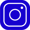 blue instagram icon PNG