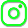 instagram icon outline green