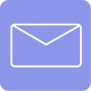 aesthetic mail icon blue