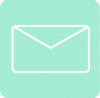 mail icon aesthetic blue