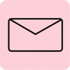 mail icon aesthetic black pink
