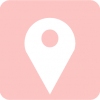 pink maps icon aesthetic
