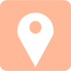 maps icon aesthetic pink