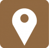 aesthetic maps icon brown