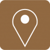 brown aesthetic maps icon