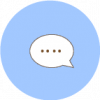 message icon aesthetic blue