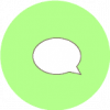 message icon aesthetic green