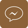 brown messenger aesthetic icon