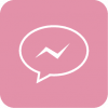 pink messenger aesthetic icon