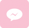 messenger icon aesthetic pink