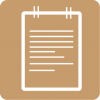 notes icon aesthetic beige