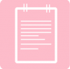 notes icon aesthetic pink