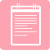 aesthetic notes icon pink