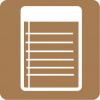 notes icon aesthetic brown