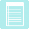 notes icon aesthetic blue