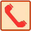 red phone icon aesthetic