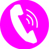 pink phone icon