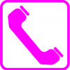 png pink phone icon