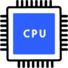 blue processer icon png