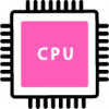 pink processer icon png