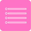 pink reminders icon aesthetic