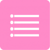 pink reminders aesthetic icon