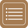 reminders icon aesthetic brown