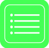 reminders icon aesthetic green