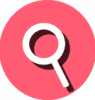 search icon pink and white
