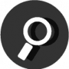 search icon black and white