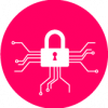 pink cyber security icon