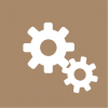 setting icon aesthetic brown