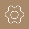 brown setting icon aesthetic