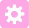 aesthetic setting icon pink