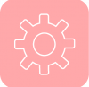 setting icon aesthetic pink