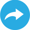 blue share icon vector