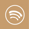 spotify icon aesthetic beige