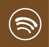 spotify icon aesthetic brown