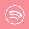 spotify icon aesthetic pink