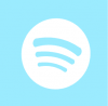 spotify icon aesthetic blue