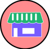 store icon aesthetic pink