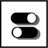 toggle switch icon black and white