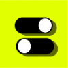 toggle switch icon yellow