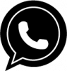 black and white whatsapp png