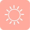 aesthetic pink whether icon