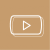 youtube icon aesthetic brown